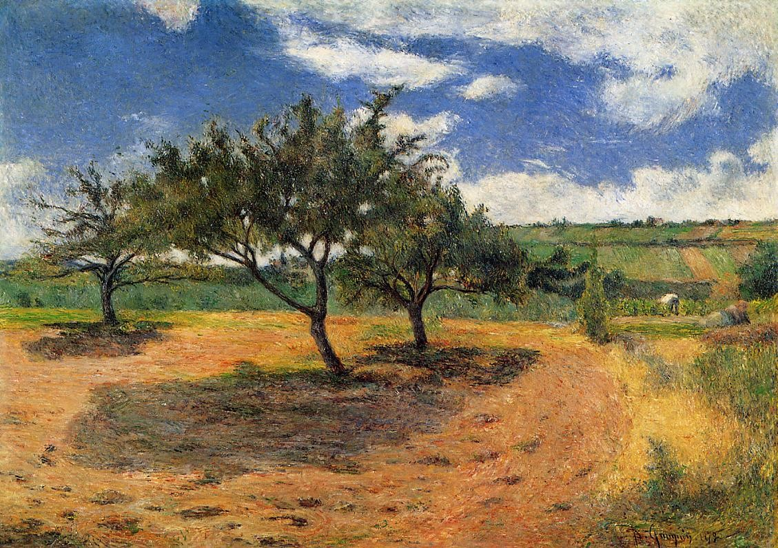 Apple trees in blossom 1879 private collection